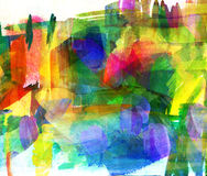 Abstract guasch painting Royalty Free Stock Photography