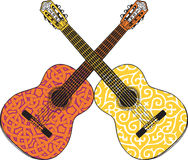 Abstract guitar Royalty Free Stock Photography