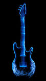 Abstract guitar. Guitar made of light and smoke Stock Image
