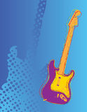 Abstract guitar. An abstract guitar with a halftone design background Stock Photography