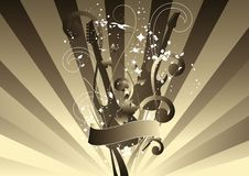 Abstract Guitar. Composition. Vector illustration Royalty Free Stock Image