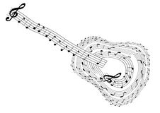 Abstract guitar Stock Image