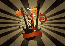 Abstract Guitar. Composition. Vector illustration Stock Photography