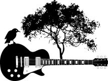 Abstract Guitar background Stock Images