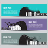 Abstract Guitar Background Banners. For Print or Web Royalty Free Stock Photography