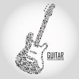 Abstract guitar Stock Photography