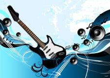 abstract guitar music Διανυσματική απεικόνιση