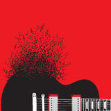 Abstract guitar, music background illustration Royalty Free Stock Photography