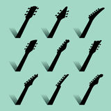 An abstract Guitar Music Background Royalty Free Stock Photos