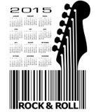 An abstract 2015 Guitar music calendar. For Print or Web Stock Photo