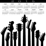 An abstract 2015 Guitar music calendar Stock Photos