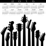 An abstract 2015 Guitar music calendar. For Print or Web Stock Photos