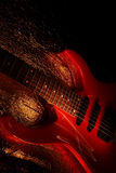 Abstract guitar music theme Stock Photo