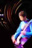 Abstract guitarist concert. Motion blur background Royalty Free Stock Photo