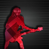 Abstract guitarist texture background. Guitarist texture background in color Stock Photography