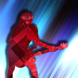 Abstract guitarist texture background. Guitarist texture background in color Stock Photos