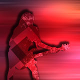 Abstract guitarist texture background. Guitarist texture background in color Royalty Free Stock Photos