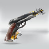 Abstract gun Royalty Free Stock Photography