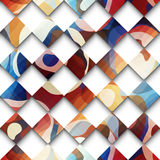 Abstract gwometric pattern from rhombus. Royalty Free Stock Photo