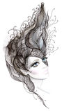 Abstract hair Vector Illustration