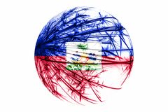 Abstract Haiti sparkling flag, Christmas ball concept isolated on white background. Abstract Haiti sparkling flag, Christmas ball concept isolated on white vector illustration