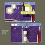Abstract half-fold template design Stock Photo