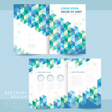Abstract half-fold template design Stock Photo