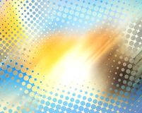 Abstract halftone background. Abstract background with halftone pattern and summer-autumn colors Royalty Free Stock Photography