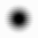 Circle halftone. Abstract halftone background. Vector illustration. Black circles. Abstract halftone background with Black circles royalty free illustration