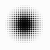 Circle halftone. Abstract halftone background. Vector illustration. Black circles. Abstract halftone background with Black circles stock illustration