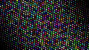 Abstract halftone background. Abstract halftone gradient background of small colored stars on black stock illustration