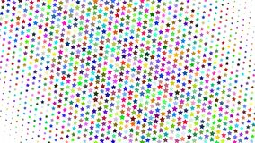 Abstract halftone background. Abstract halftone gradient background of small colored stars on white stock illustration