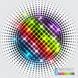 Abstract halftone background with rainbow cross Royalty Free Stock Images