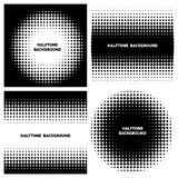 Abstract halftone backgrounds with text royalty free illustration