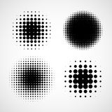 Abstract Halftone Backgrounds. Vector Set of Isolated Modern Design Element Stock Photo