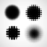 Abstract Halftone Backgrounds. Vector Set of Isolated Modern Design Element Royalty Free Stock Photo