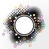 Abstract Halftone Badge Royalty Free Stock Photos