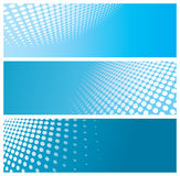 Abstract halftone banners Stock Photo