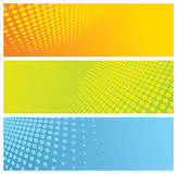 Abstract halftone banners Royalty Free Stock Photos
