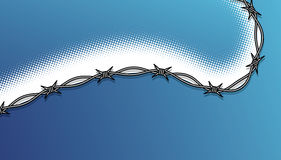 Abstract halftone and barbed wire Stock Photos