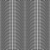 Abstract Halftone Black and White Vector Seamless Pattern Backgr Stock Images