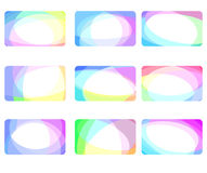 Abstract halftone cards collection vector illustration
