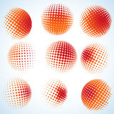 Abstract halftone circle design. EPS 8 stock illustration