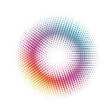 Abstract halftone Circle dots  pattern background Stock Images
