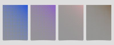 Abstract halftone circle pattern cover design template set. Simple abstract halftone circle pattern cover design template set - vector stationery background Stock Photography