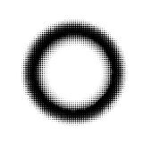 Abstract halftone circle ring background Royalty Free Stock Photos