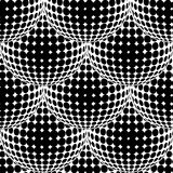Abstract Halftone Circle Seamless Pattern. Royalty Free Stock Photography