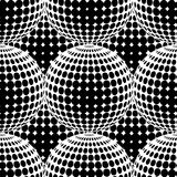 Abstract Halftone Circle Seamless Pattern. Stock Photography