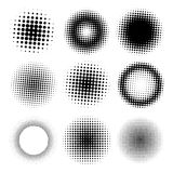 Abstract Halftone Circle Set Stock Photography