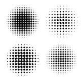 Abstract halftone circle shapes set. Design elements Royalty Free Stock Image